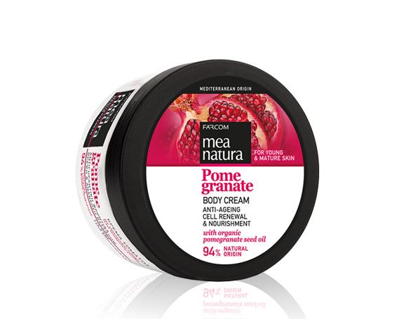 Farcom MEA NATURA Pomegranate Омолаживающий крем для тела с маслом граната 250  мл.
